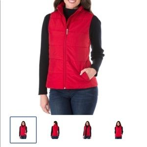 NWT MICHEAL KORS RED PUFFER VEST